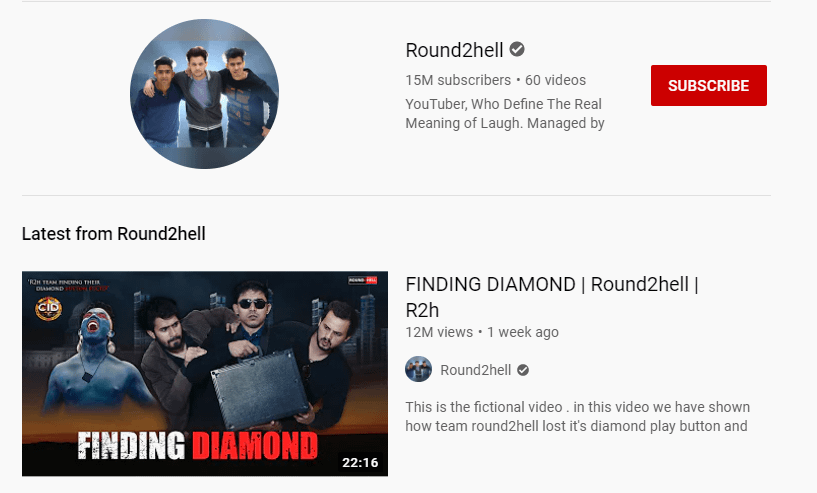 RoundToHell youtube channel
