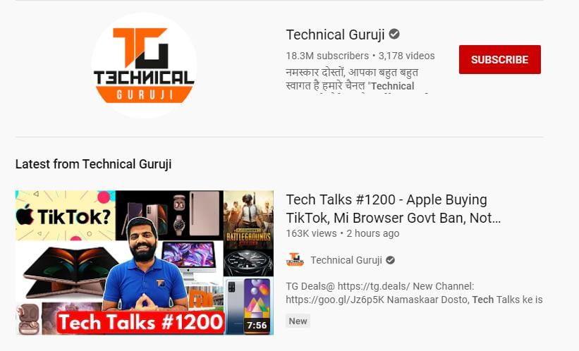 Technical Guruji youtube channel